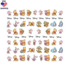 (USA) Cartoons WTP Baby Nail Stickers