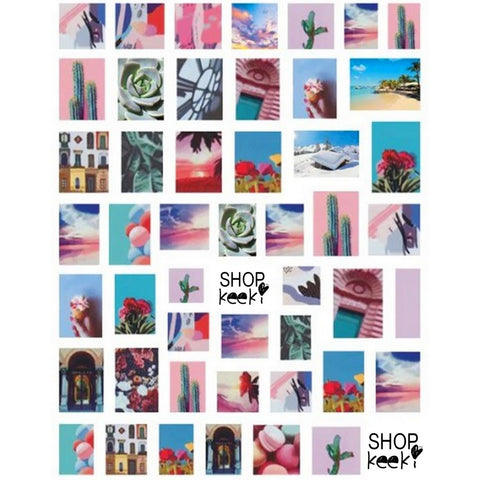 Summer Snapshot Travels Nail Stickers