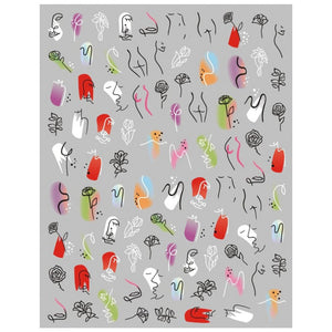 Abstract Love Nail Stickers