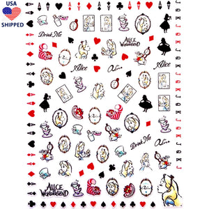 (USA) Cartoons AIW Watercolor Nail Stickers