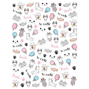 Animals Cute Nail Stickers
