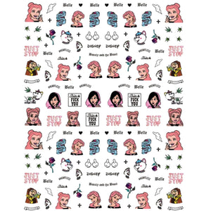 Cartoons BATB Explicit Nail Stickers