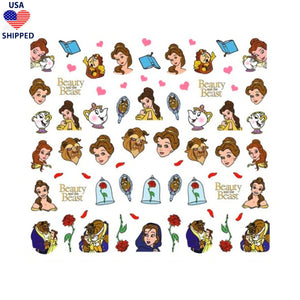 (USA) Cartoons BATB Nail Stickers
