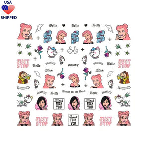 (USA) 4/20 BATB Explicit Nail Stickers