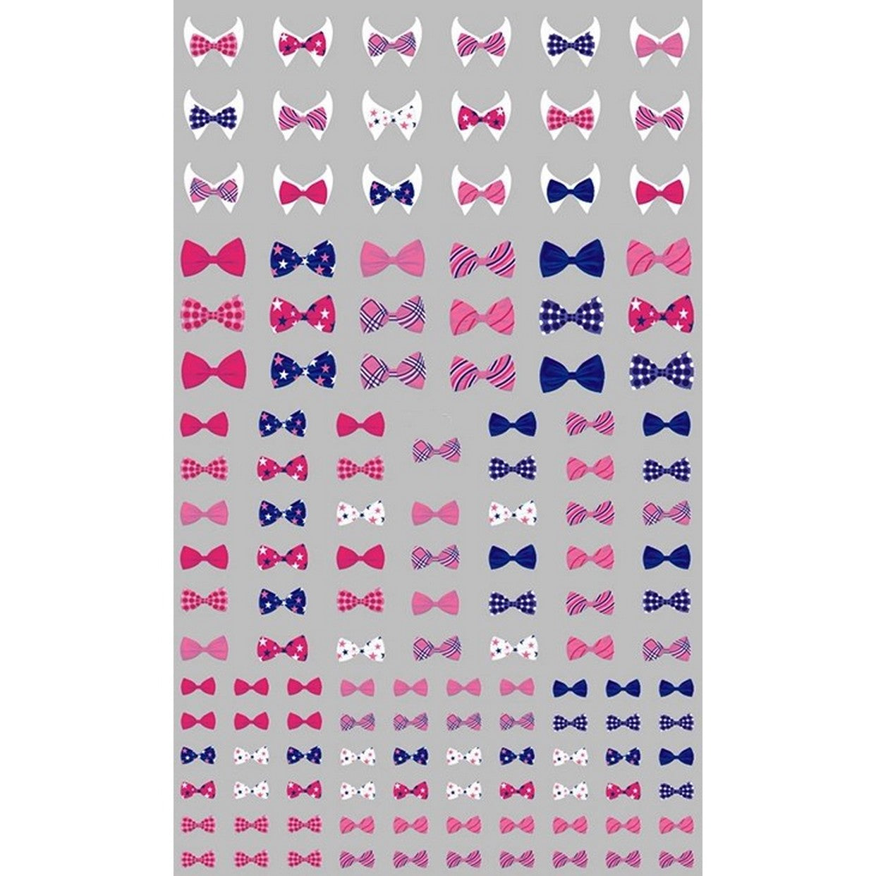 Bow Ties Nail Stickers