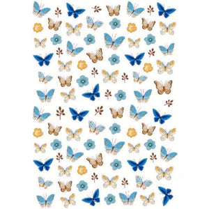 Animals Butterflies Blue Variety Nail Stickers