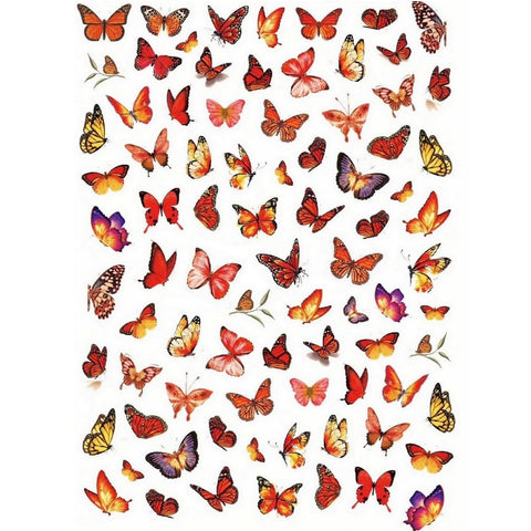 Animals Butterflies Brown Nail Stickers