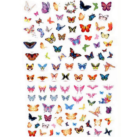 Animals Butterflies Fantasy Nail Stickers