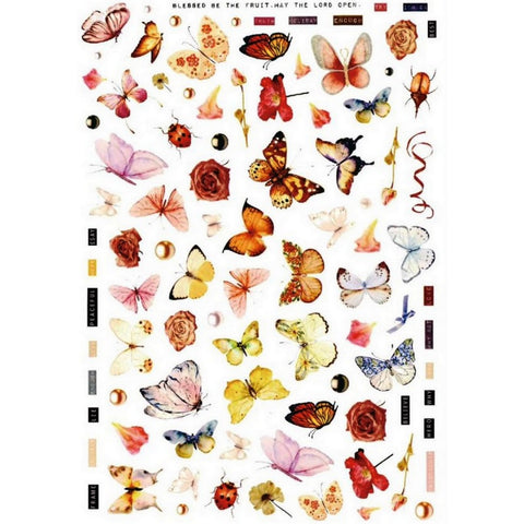 Butterflies Larger Variety Nail Stickers