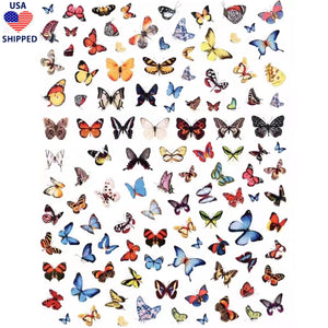 (USA) Butterflies Mix #3 Nail Stickers