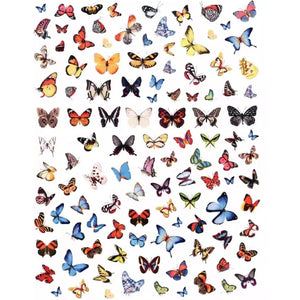 Animals Butterflies Mix #3 Nail Stickers