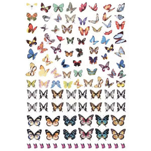 Butterflies Monarch Variety Nail Stickers
