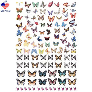 (USA) Butterflies Monarch Variety Nail Stickers