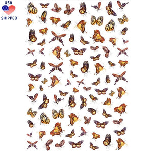 (USA) Butterflies Neutral Nail Stickers