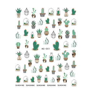 Cacti Nail Stickers