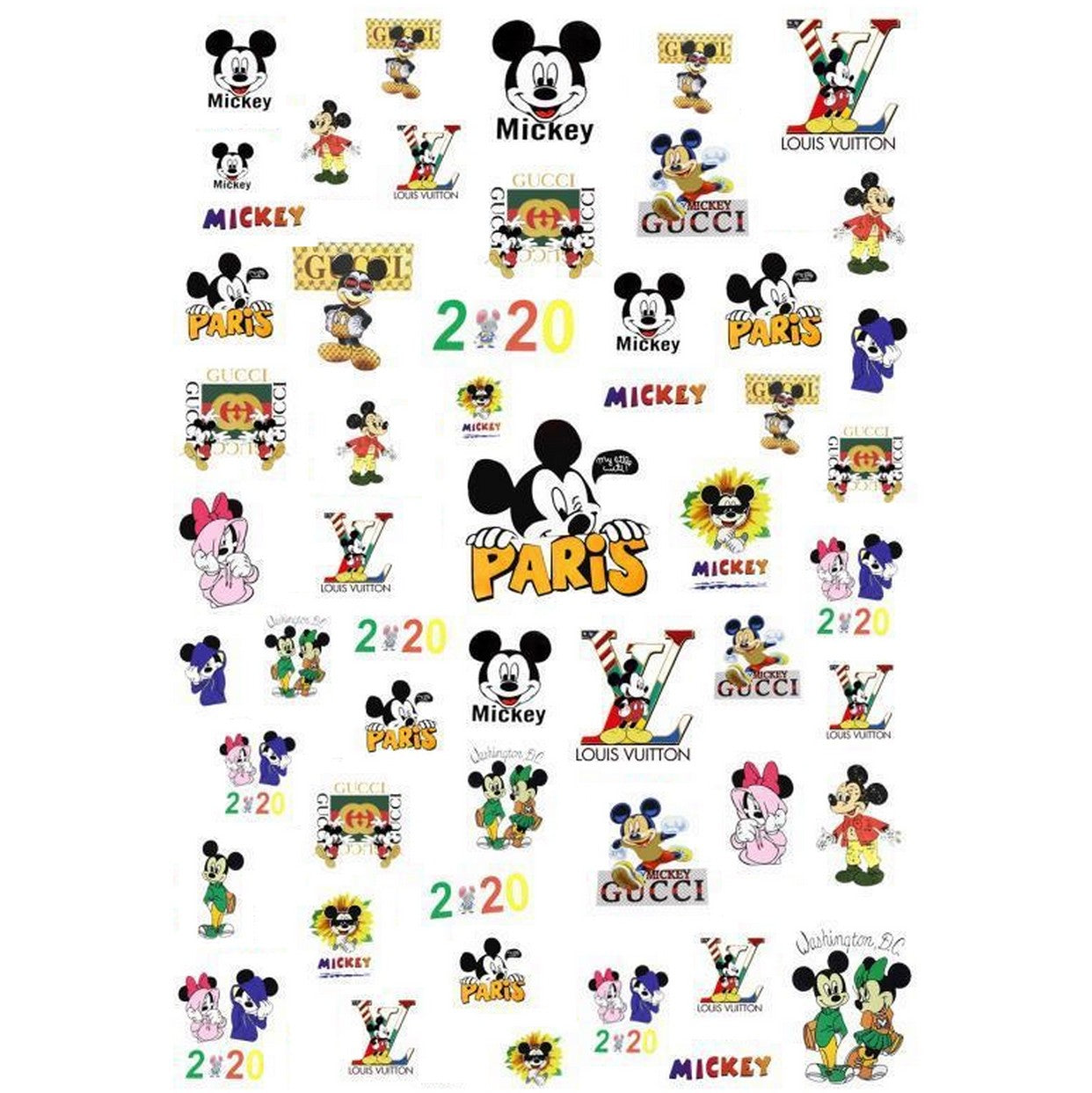 Cartoons Swag #1 Nail Stickers