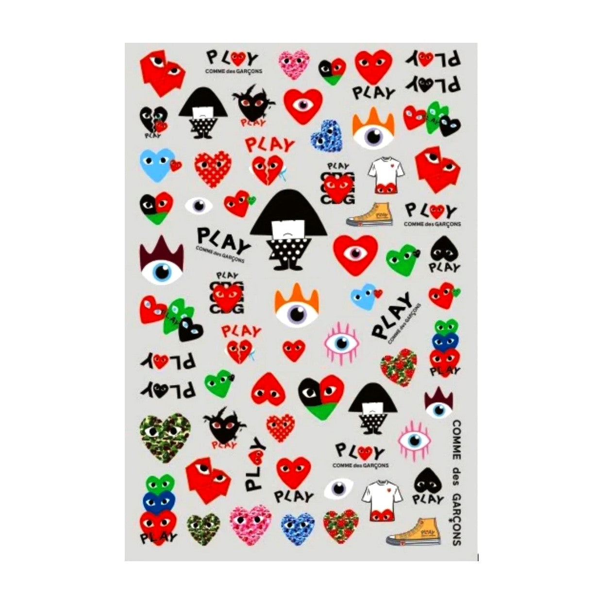CDG Small Nail Stickers