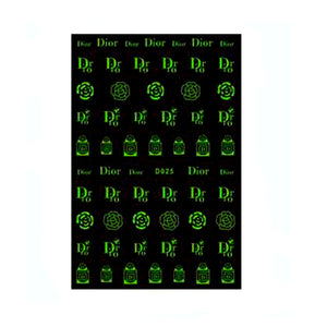 C  D White/Glow in The Dark Nail Stickers