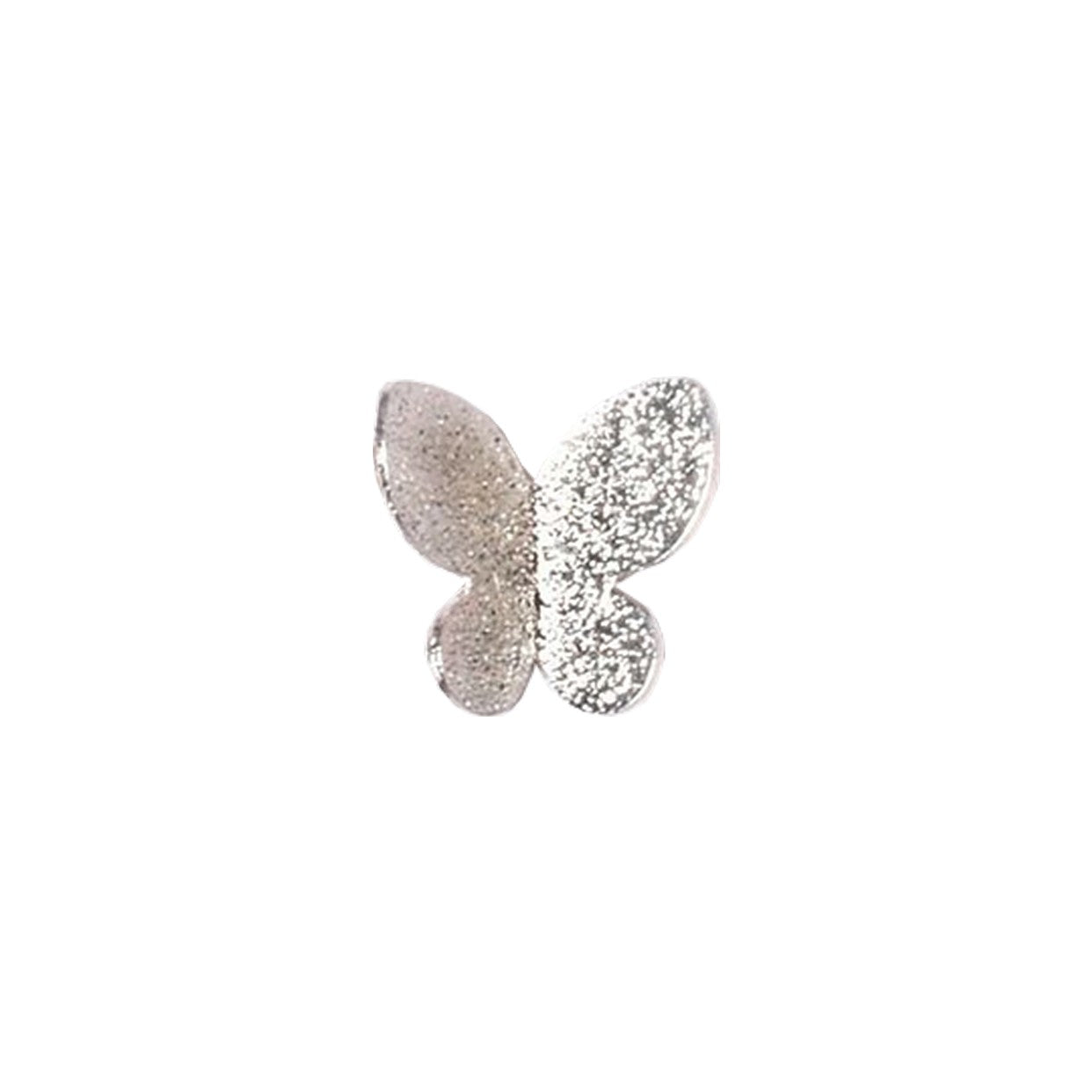 3D Butterfly Pair / Silver
