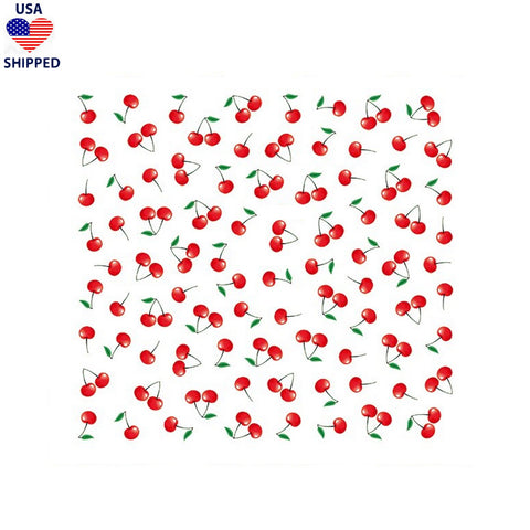 (USA) Food/Drinks Cherries Nail Stickers
