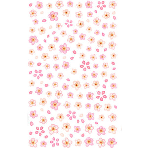 Floral Cherry Blossoms Nail Stickers