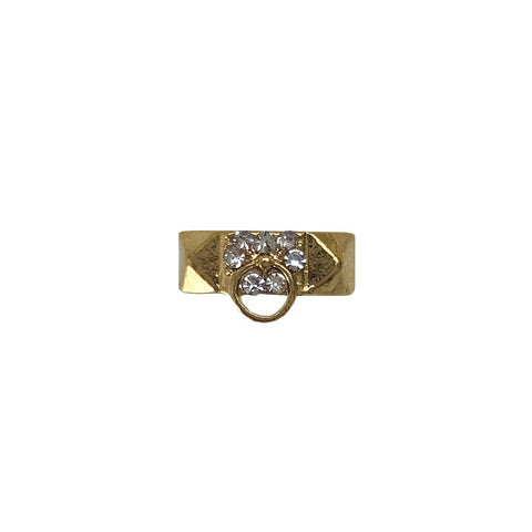 Gold Crystal Door Knocker Pair