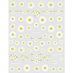 Floral Chamomile Flowers Nail Stickers