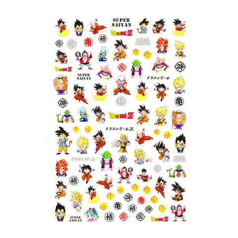 Anime DBZ Nail Stickers