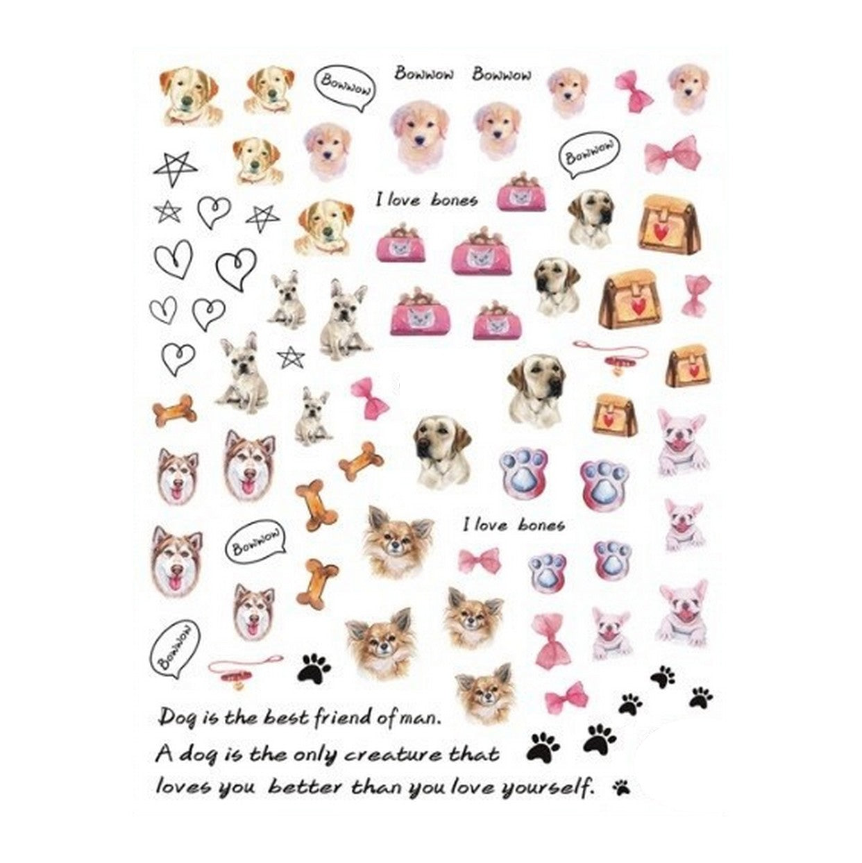 Pets Dogs #1 Nail Stickers