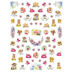 Pets Dogs #6 Nail Stickers