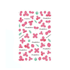 Floral Dried Flowers Pink Nail Stickers