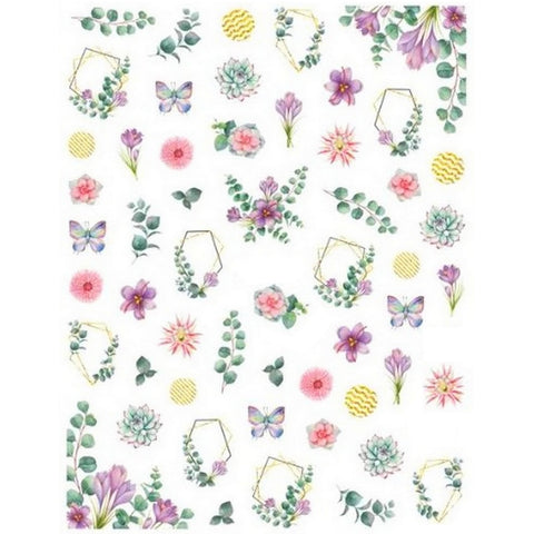 Flower Eucalyptus Nail Stickers