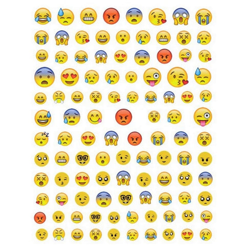 Smiley Emojis #2 Nail Stickers