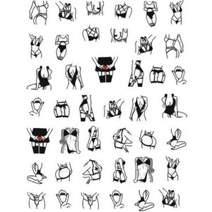 Explicit Baddies #1 Nail Stickers