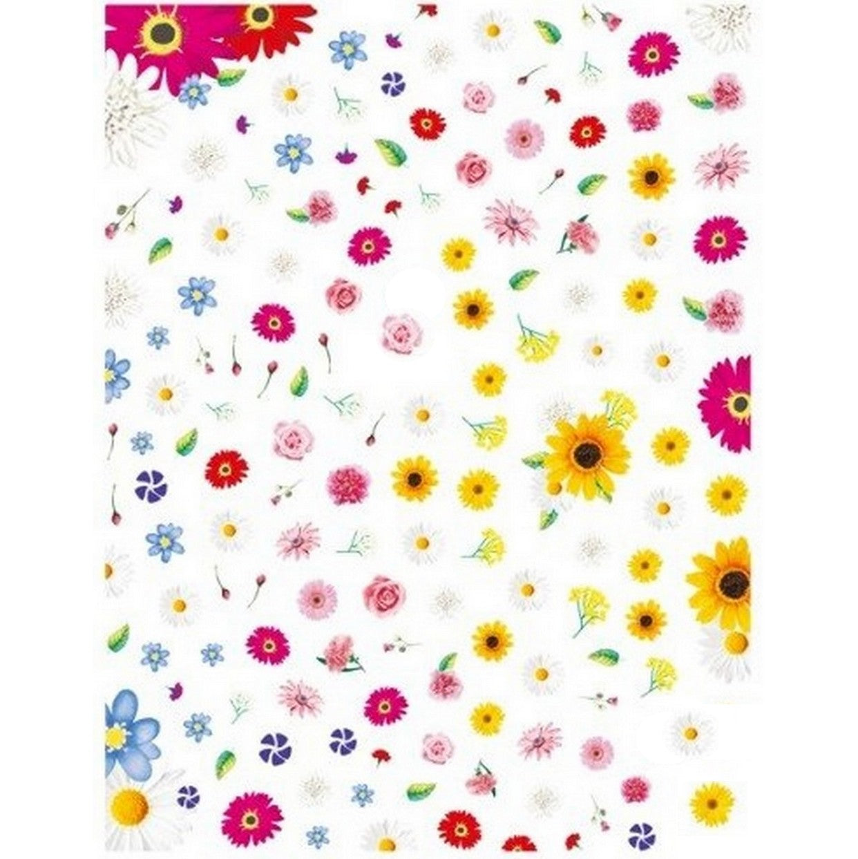 Floral Flower Variety Mix Stickers
