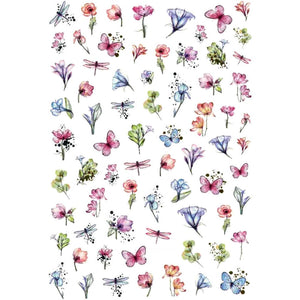 Floral Pond Nail Stickers