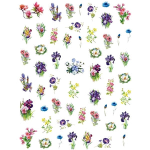 Floral Wild Forrest Blooms Nail Stickers