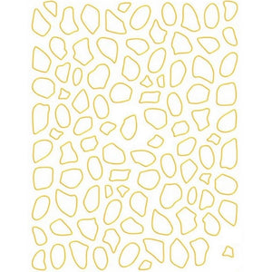 Border Frames Asymmetric Gold Nail Stickers
