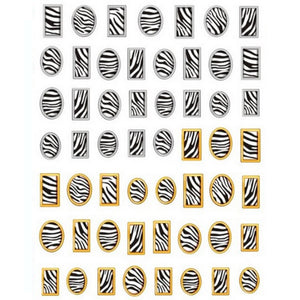 Animal Print Zebra Frames Nail Stickers