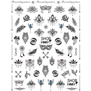 Tattoos Free Spirit Nail Stickers