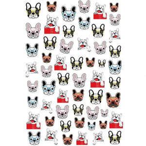 Pets Dogs French Bulldogs Nail Stickers