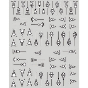 Borders Geometric Nail Stickers