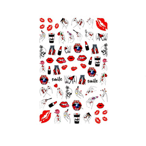 Explicit Girl Next Door Nail Stickers