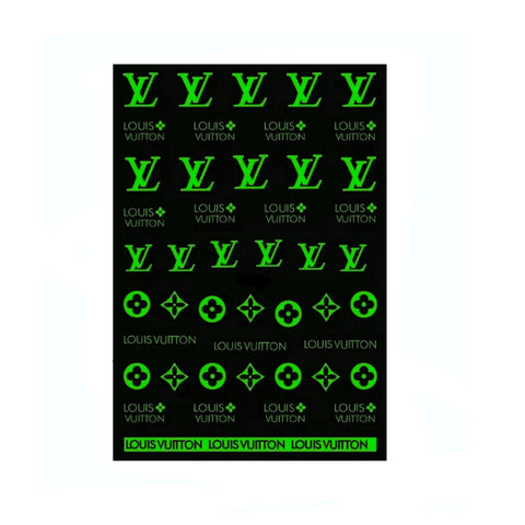 L White/Glow in the Dark Nail Stickers