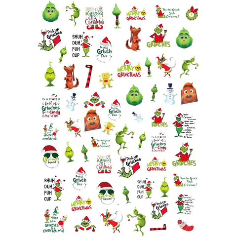Christmas Grin Mix Nail Stickers