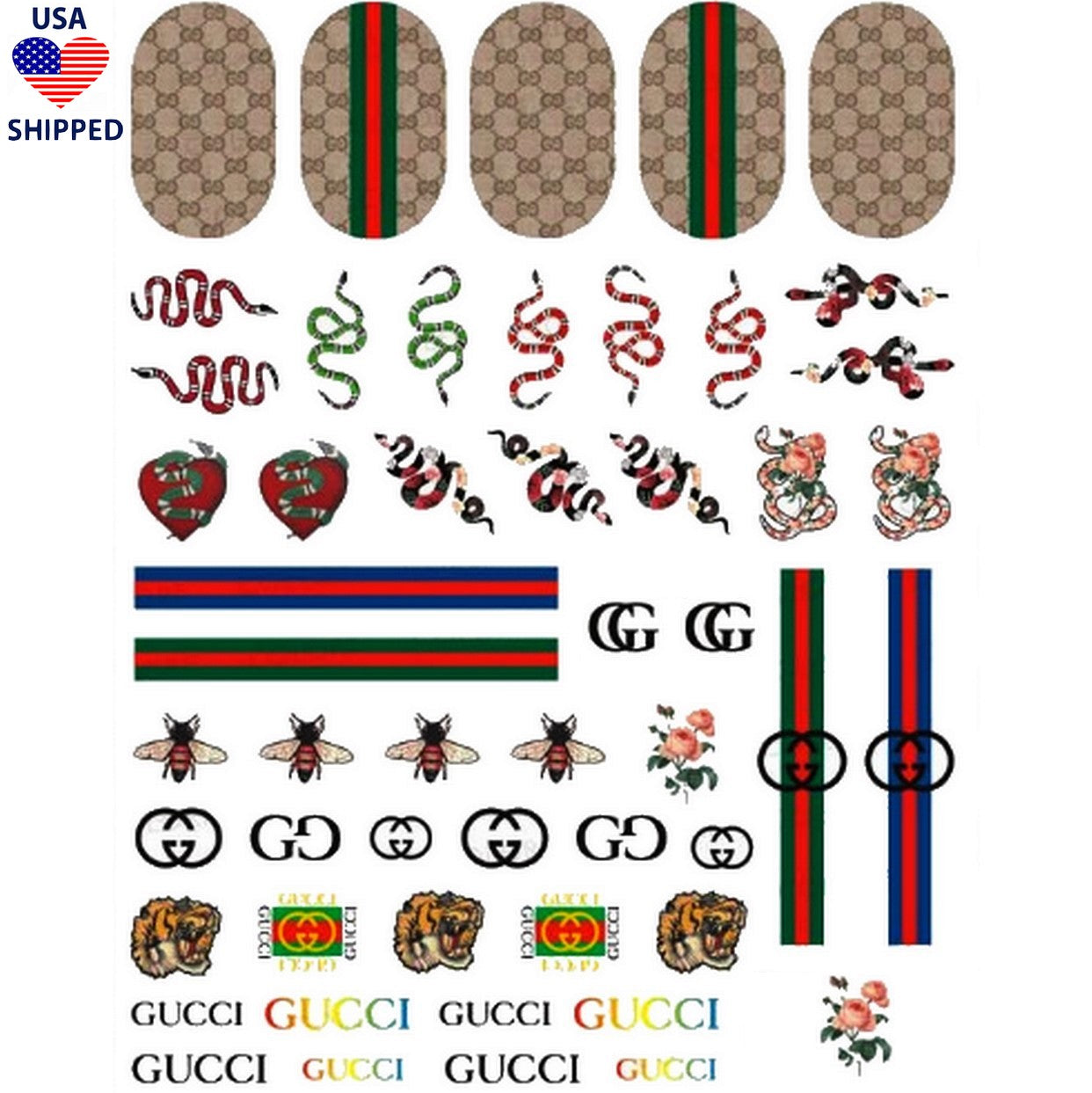 (USA) G Mix Nail Stickers