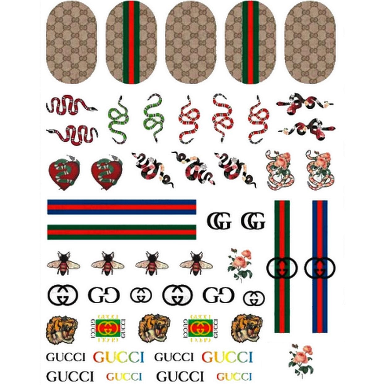 GG Mix Nail Stickers