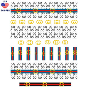 (USA) GG Pattern Mix Nail Stickers