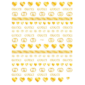 GG Gold Nail Stickers