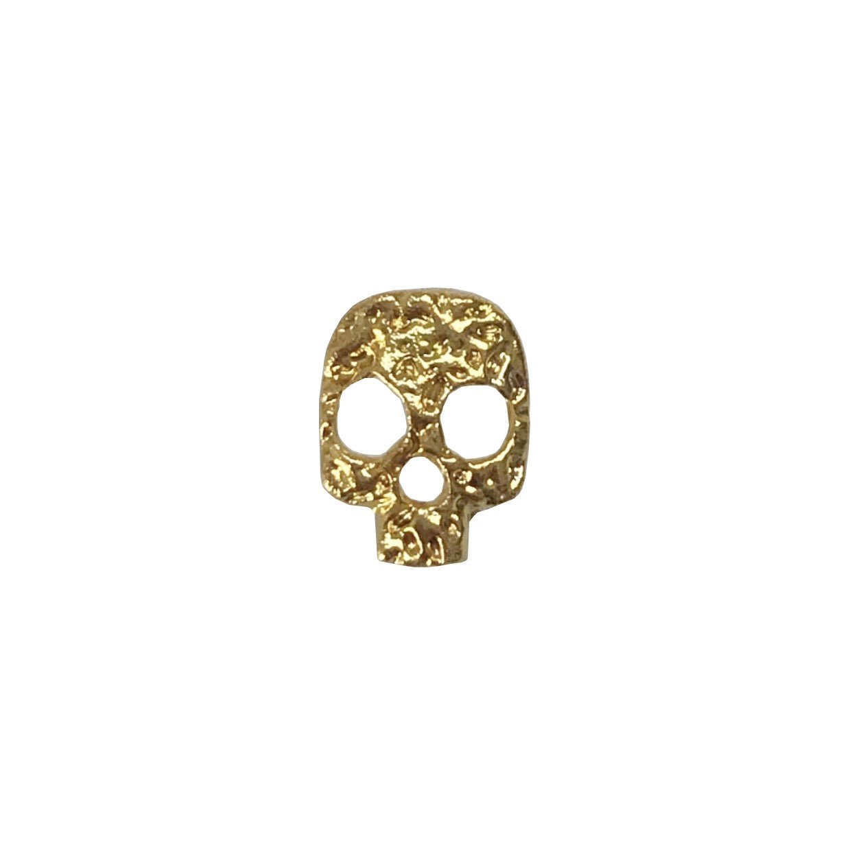 Gold Hammered Skull x4